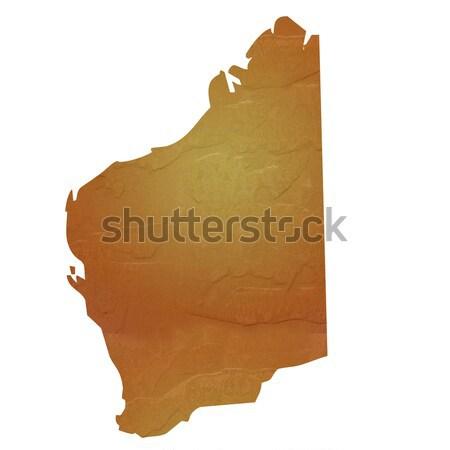 Textured map of Western Australia Stock photo © speedfighter