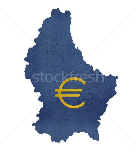 Európai valuta szimbólum térkép Luxemburg izolált Stock fotó © speedfighter