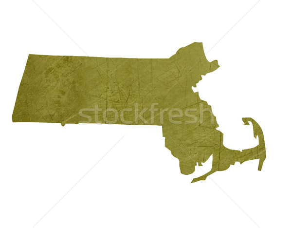 Massachusetts americano isolado branco mapa Foto stock © speedfighter