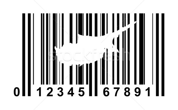 Chipre código de barras compras isolado branco viajar Foto stock © speedfighter