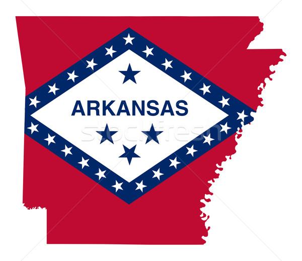 Arkansas bandera mapa aislado blanco EUA Foto stock © speedfighter