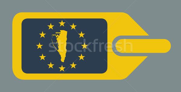 Gibraltar europejski bagażu etykiety podróży tag Zdjęcia stock © speedfighter