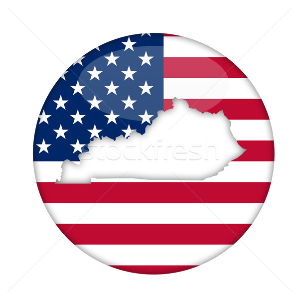 Kentucky amerika badge geïsoleerd witte business Stockfoto © speedfighter