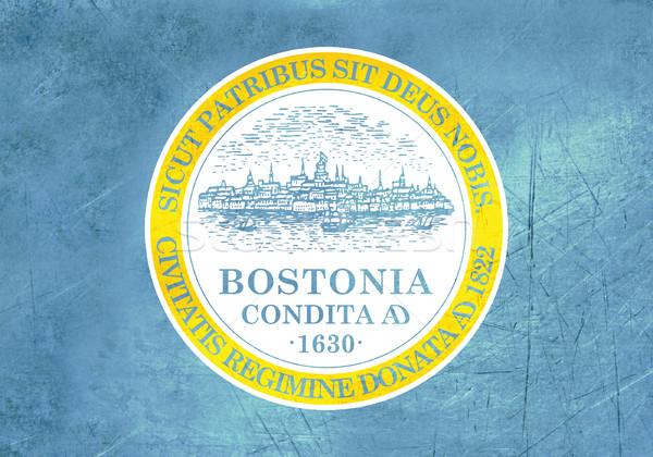 Grunge Boston city flag Stock photo © speedfighter