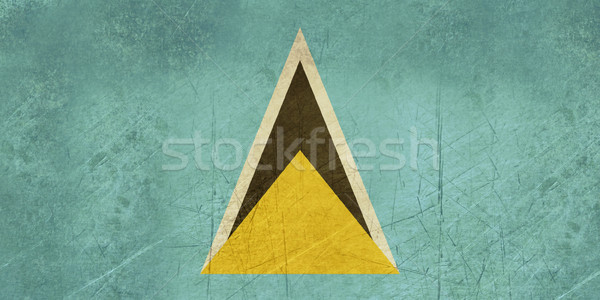Grunge Saint Lucia Flag Stock photo © speedfighter