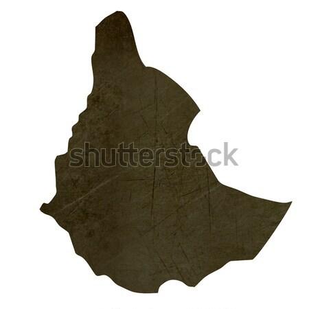 Sötét térkép Szudán mintázott izolált fehér Stock fotó © speedfighter