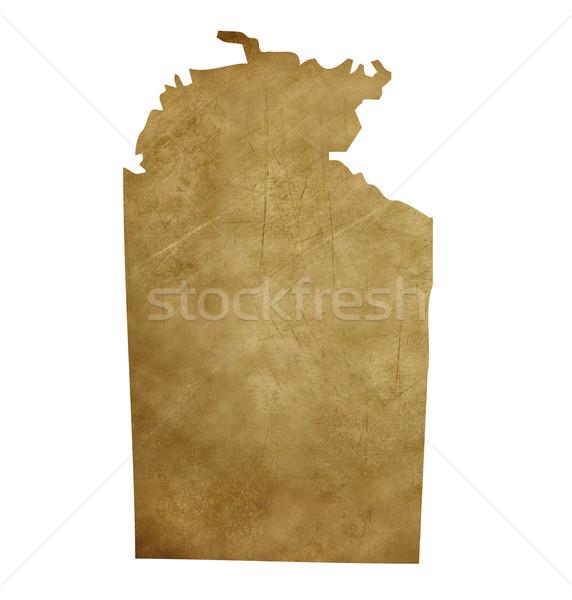 Grunge Northern Territory treasure map Stock photo © speedfighter