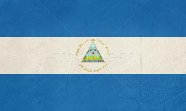 üdvözlet Nicaragua zászló útlevél bélyeg utazás Stock fotó © speedfighter