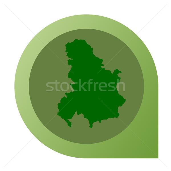 Aislado Serbia Montenegro mapa marcador pin Foto stock © speedfighter