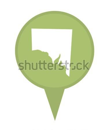 State of Alabama map pin Stock photo © speedfighter