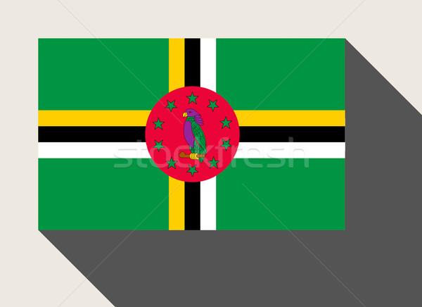 Dominica vlag web design stijl knop Stockfoto © speedfighter