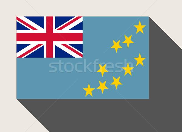 Tuvalu bandeira web design estilo botão Foto stock © speedfighter