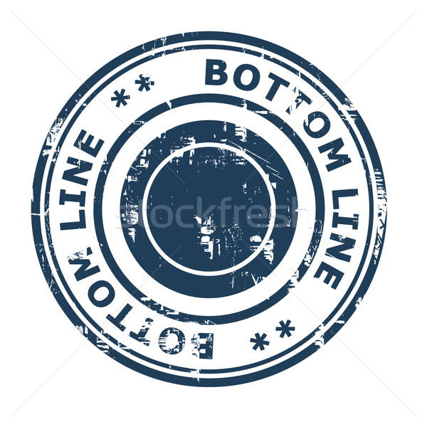 Bottom line business concept rubber stamp Stock photo © speedfighter