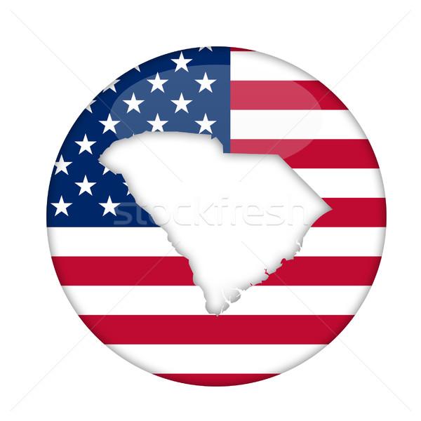 Carolina del Sud america badge isolato bianco business Foto d'archivio © speedfighter
