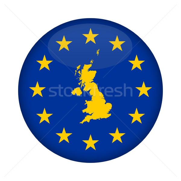 Egyesült Királyság térkép európai szövetség zászló gomb Stock fotó © speedfighter