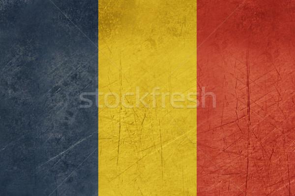 ストックフォト: グランジ · ルーマニア · フラグ · 国 · 公式 · 色