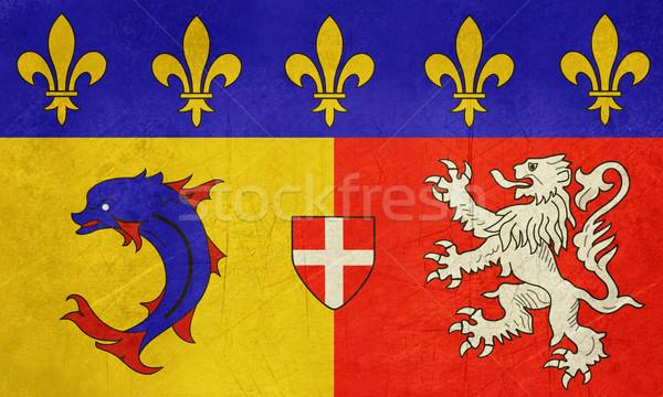 Grunge Rhone Alpes flag Stock photo © speedfighter