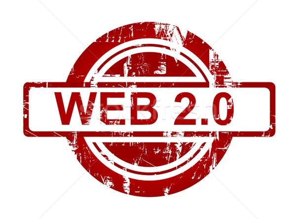 Web 20 stempel geïsoleerd witte afdrukken Stockfoto © speedfighter