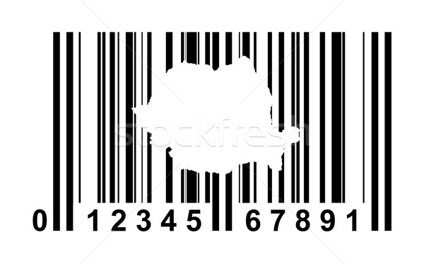 Румыния штрих-кода торговых изолированный белый путешествия Сток-фото © speedfighter