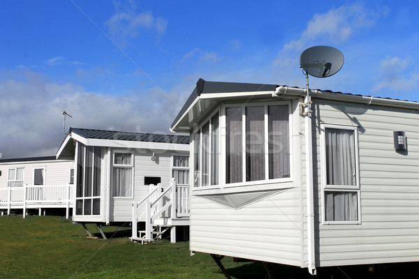 Caravan park in summer Stock photo © speedfighter