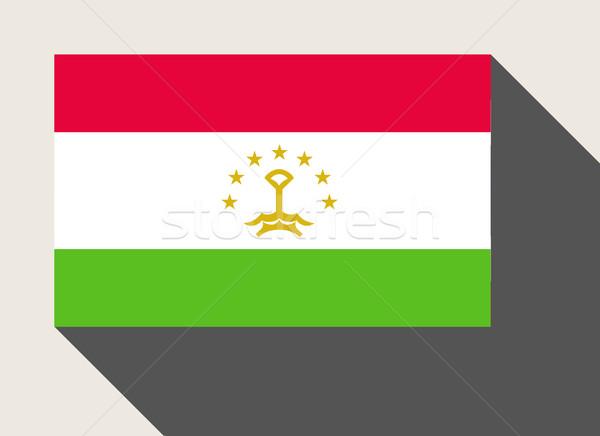 Tadzjikistan vlag web design stijl kaart knop Stockfoto © speedfighter