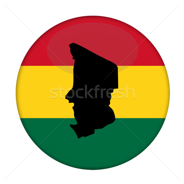 Chad map on a Rastafarian flag button Stock photo © speedfighter