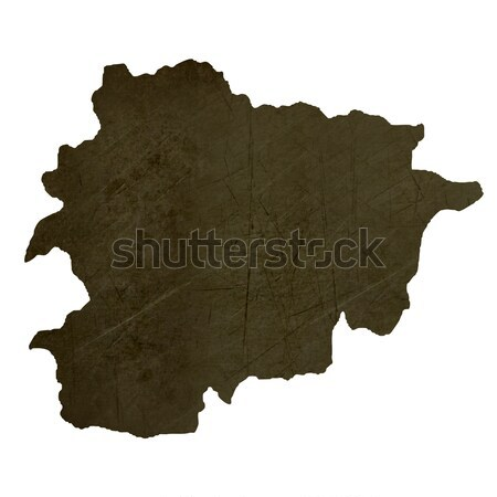 Dark silhouetted map of Zaire Stock photo © speedfighter