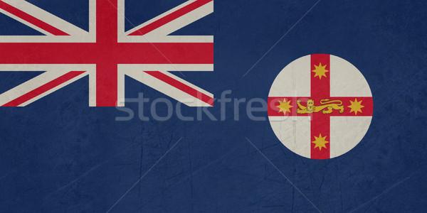 Foto stock: Grunge · bandera · nueva · gales · del · sur · australiano