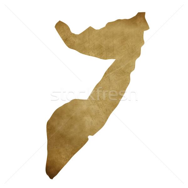 Somali grunge treasure harita harita hazine stil Stok fotoğraf © speedfighter
