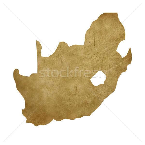 Güney Afrika grunge treasure harita harita hazine stil Stok fotoğraf © speedfighter
