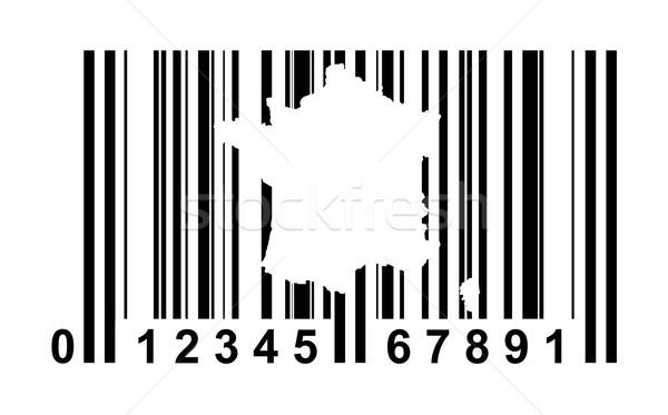 Frankrijk streepjescode winkelen geïsoleerd witte business Stockfoto © speedfighter