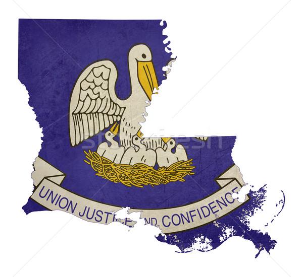 Grunge state of Louisiana flag map Stock photo © speedfighter