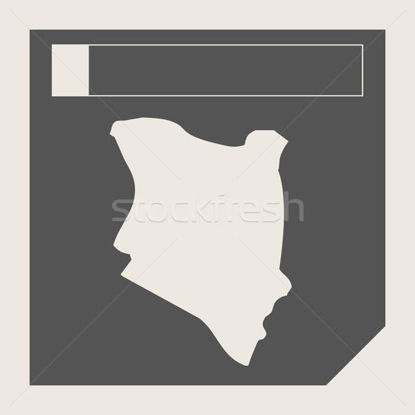 Kenia Pokaż przycisk czuły web design odizolowany Zdjęcia stock © speedfighter