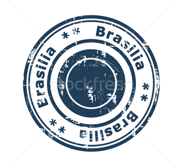 Brasilia concept stamp Stock photo © speedfighter