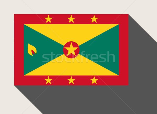 Grenada vlag web design stijl kaart knop Stockfoto © speedfighter