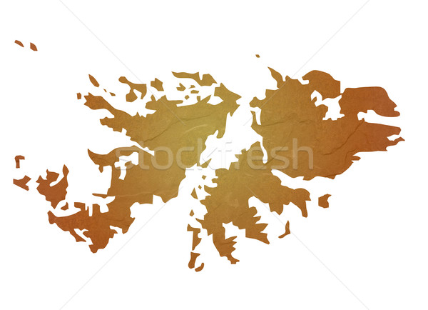 Textured map of Falkland Islands Stock photo © speedfighter