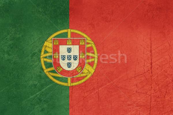 Foto d'archivio: Grunge · Portogallo · bandiera · paese · ufficiale · colori