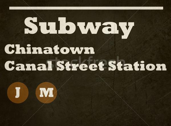 Grunge Chinatown Canal Street Station Stock photo © speedfighter