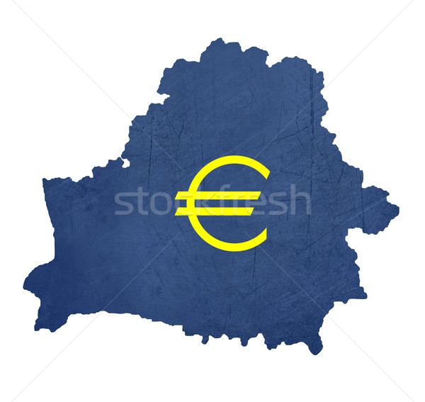 Europese valuta symbool kaart Wit-Rusland geïsoleerd Stockfoto © speedfighter