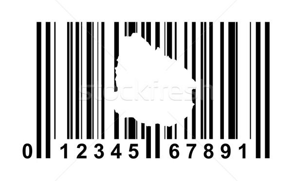 Uruguay streepjescode winkelen geïsoleerd witte reizen Stockfoto © speedfighter