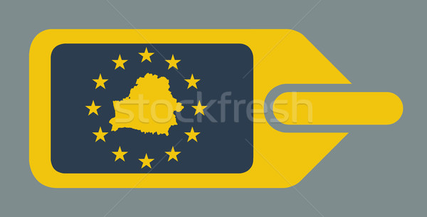 Wit-Rusland europese bagage label reizen tag Stockfoto © speedfighter