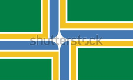 Portland city flag Stock photo © speedfighter