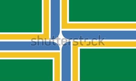 Portland city flag Stock photo © speedfighter