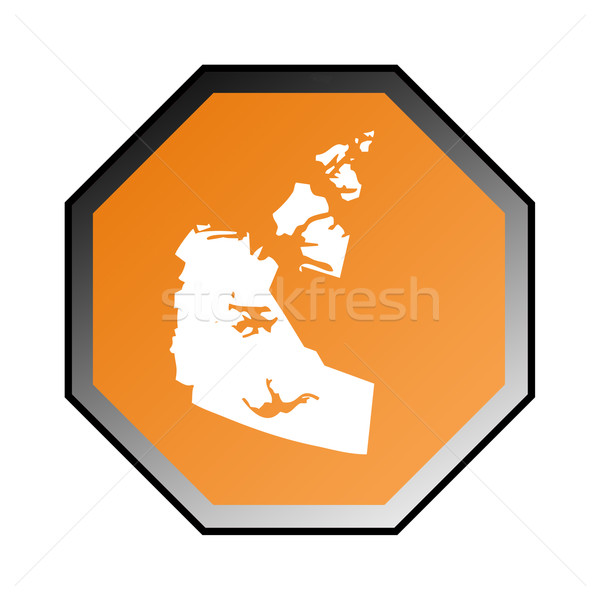 Nord-ouest panneau routier isolé blanche cadre orange Photo stock © speedfighter