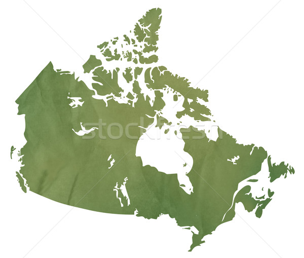 Canadian map on green paper Stock photo © speedfighter