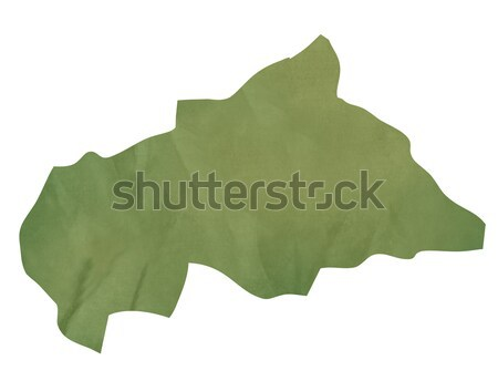 Old green paper map of Central African Republic Stock photo © speedfighter