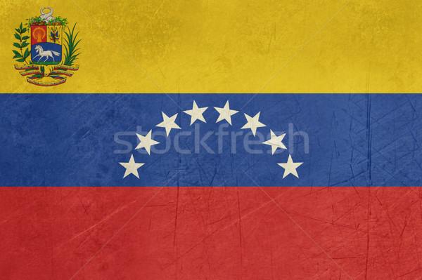 Grunge Venezuela vlag land officieel kleuren Stockfoto © speedfighter