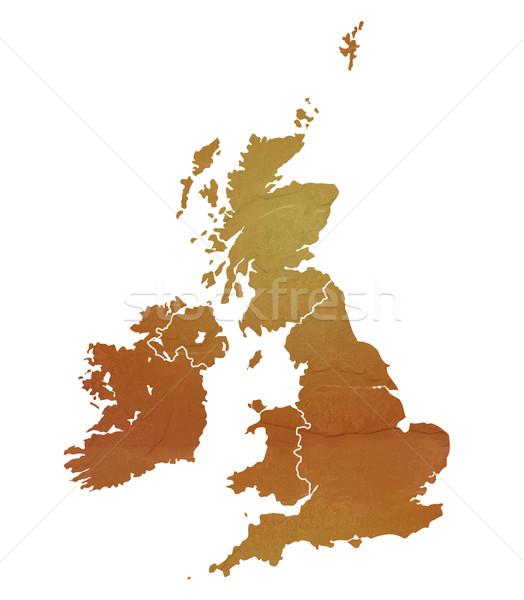 Textured map of United Kingdom Stock photo © speedfighter