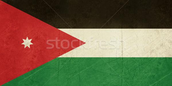 Grunge Jordan Flagge Land offiziellen Farben Stock foto © speedfighter