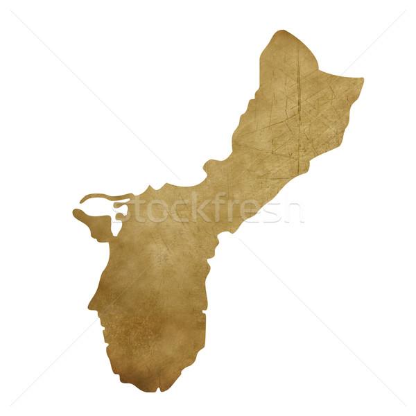 Grunge Guam mappa del tesoro mappa tesoro stile Foto d'archivio © speedfighter